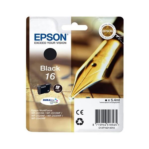 EPSON CARTUCCIA ORIGINALE T16 BLACK