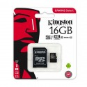 Micro SD 16Gb Kingston con adattatore SD CL10