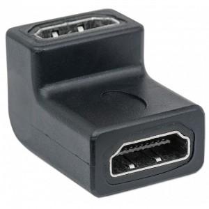 Adattatore HDMI A-F/A-F ang. nero