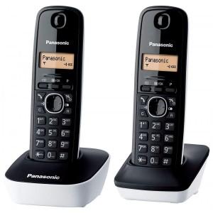 TELEFONO CORDLESS DUO PANASONIC NERO