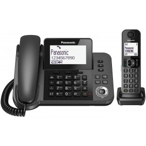 TELEFONO DIGITALE FISSO + CORDLESS PANASONIC NERO