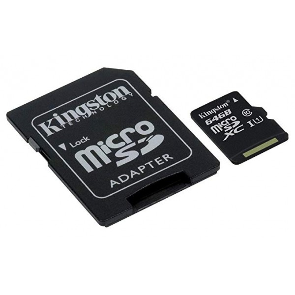 SCHEDA MICRO SDHC 64GB C10 CON ADAT. SD e USB KINGSTON