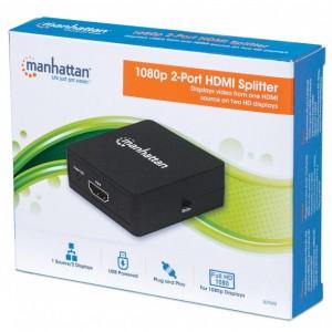 Splitter 2vie HDMI V1.3 1080P c/cav