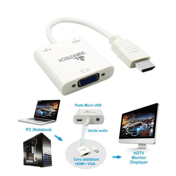 Cavo Adattatore da HDMI-M a VGA-F