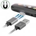 CAVO USB MAGNETICO GRAVITY CORD 1M GRIGIO + USB TIPO C + CONNETTORE MICRO USB