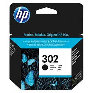 CARTUCCIA INK JET ORIGINALE HP 302 PER OFFICEJET 3830 NERO
